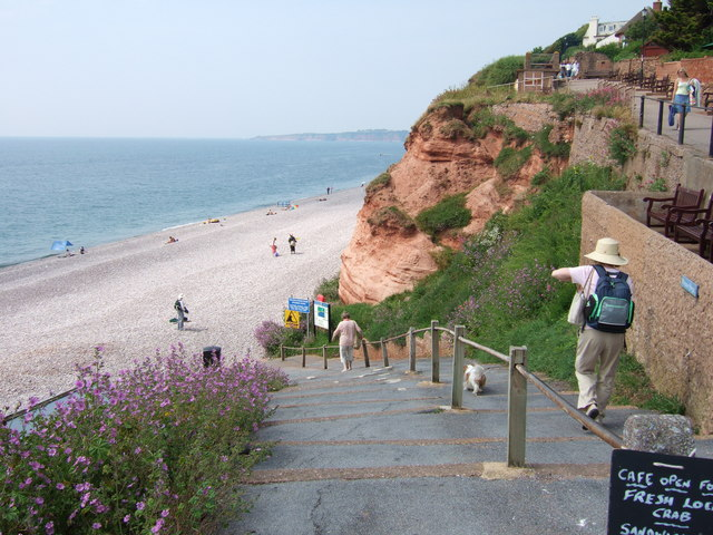 The beach at Budleigh Salterton, Devon.