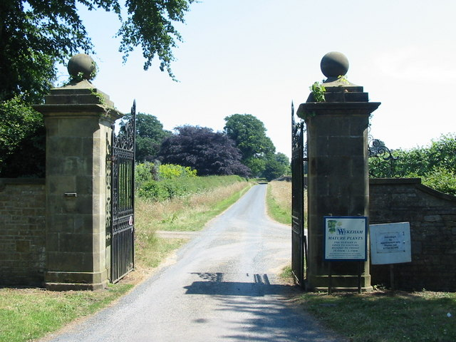 Entrance gates to Wykeham Mature Plants