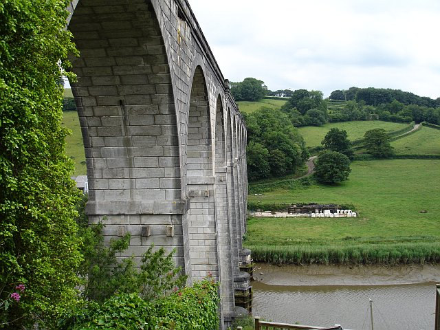 Calstock viaduct and the road to Ferry Farm