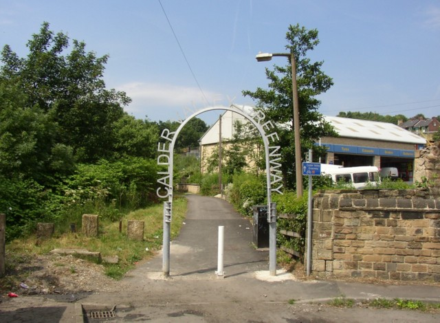 Archway at the Dewsbury end of the Calder Valley Greenway
