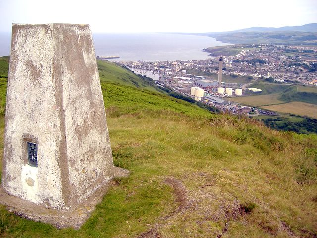 Corrins Hill trig point, Isle of Man