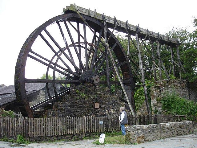 Waterwheel at Morwellham Quay