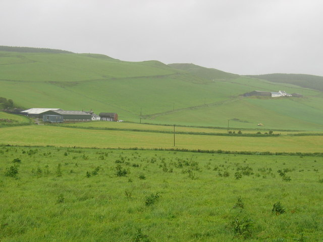 Largiebeg Farm from single track road near A83.