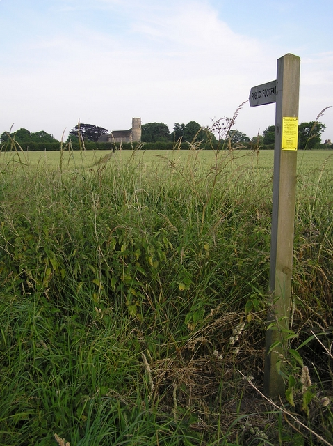 Footpath and church, Potter Heigham