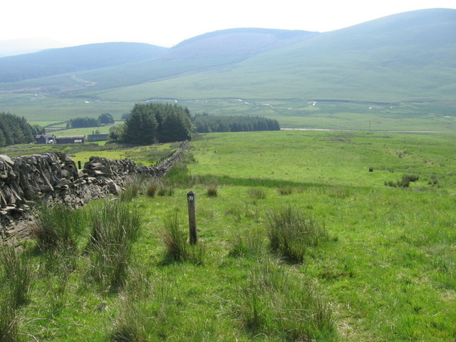 Southern Upland Way near Overfingland