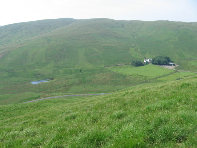 Troloss farm and A702 road