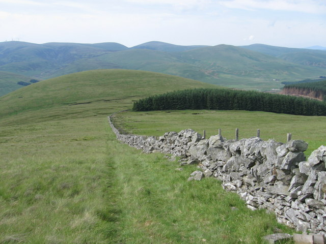 Lower slopes of Comb Law to Meikle Shag