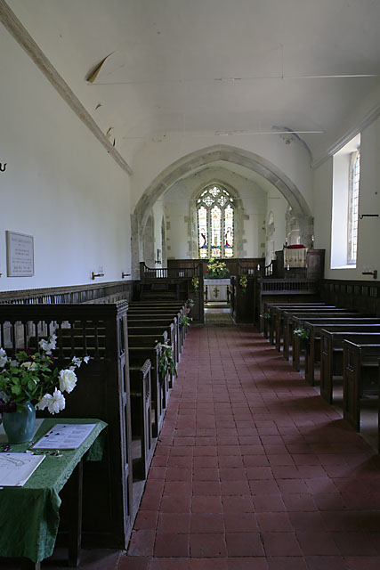 Interior of Church of St Mary & St Lawrence, Stratford Tony