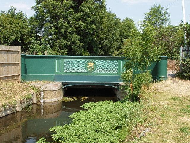 Longford River bridge with William IV 1834 sign