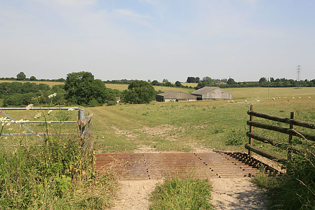 Farm buildings at New Farm Barn, on Stratford Tony Down