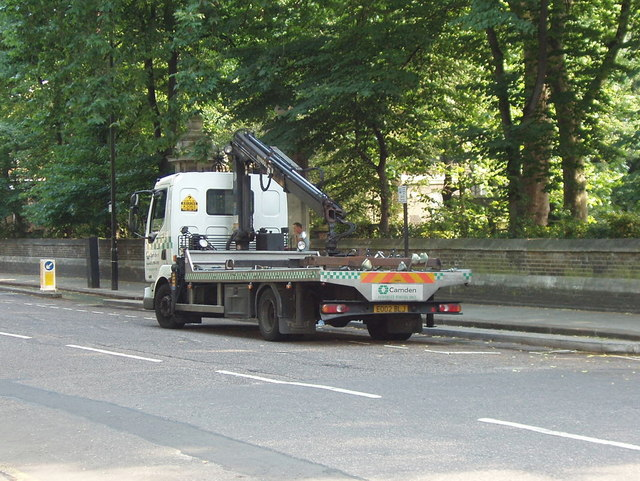 Camden car removal lorry