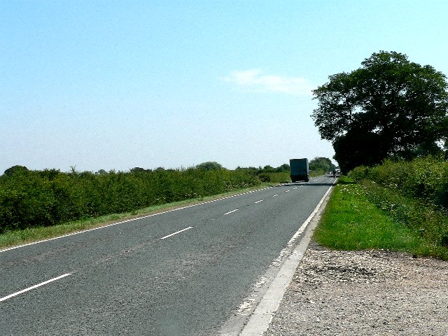 The A163 to Market Weighton