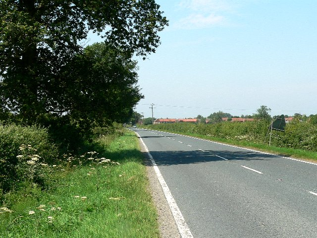 The A163 to Selby