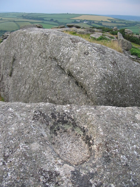 Sculpted rock at Helman Tor