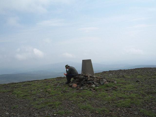 The summit trig point on Culardoch