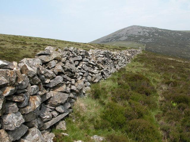 Dry Stone wall on Mynydd Graig Goch