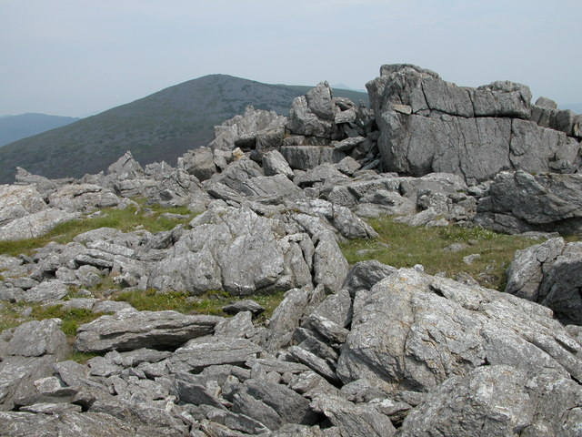 Crags on summit of Mynydd Graig Goch