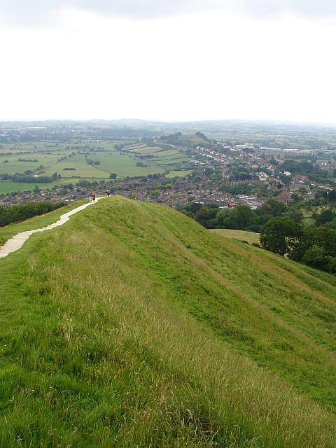 Looking south west from Glastonbury Tor