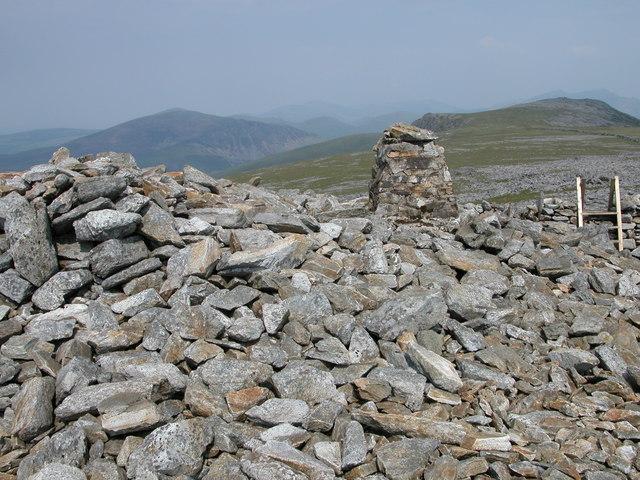 The summit cairn of Garnedd-goch