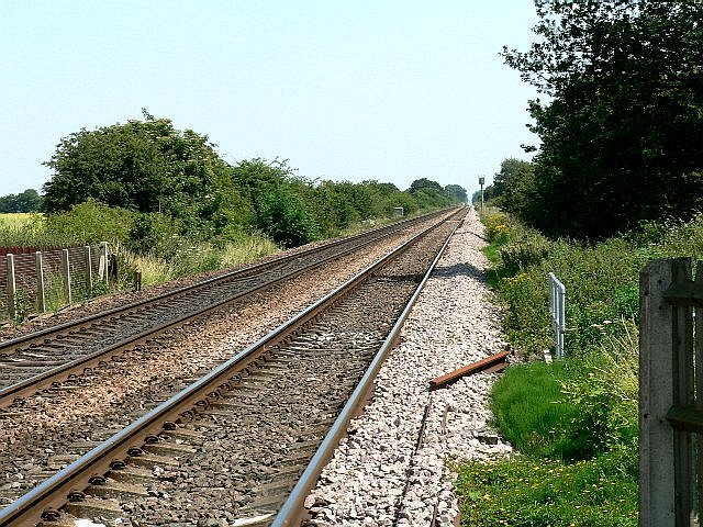 Railway Line to Selby from Hull