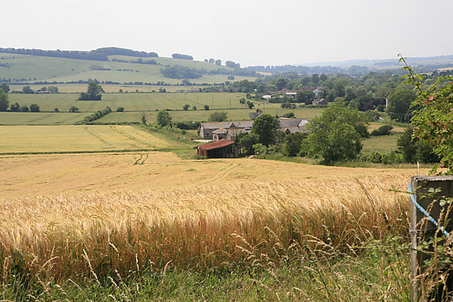 View of Faulston Farm from footpath on Faulston Down