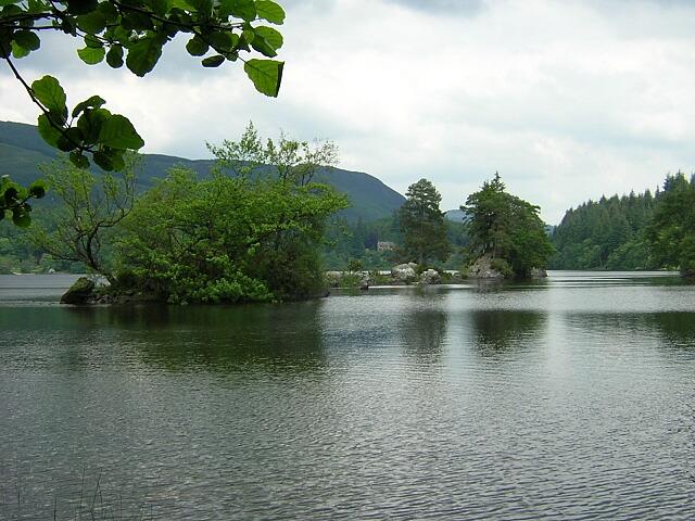 Line of Small Islands in Loch Ard