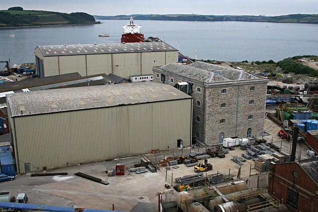 Buildings in Falmouth Docks