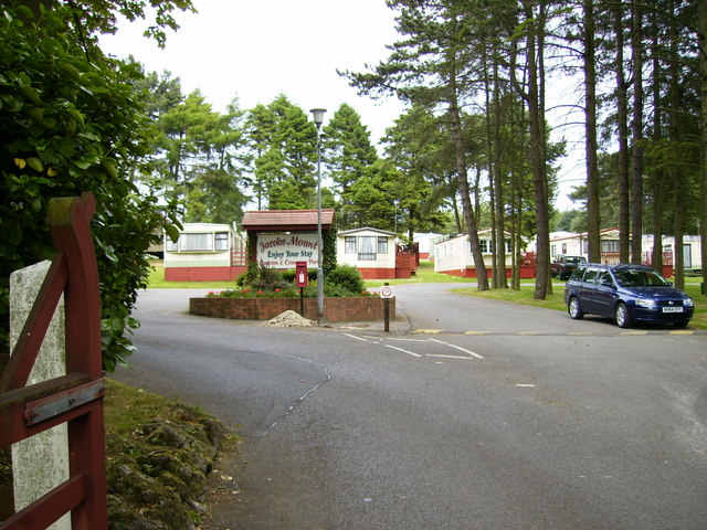 The entrance to Jacobs Mount Holiday Park (adjacent A170)