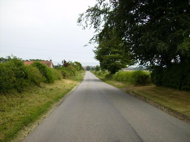 Unclassified road near Irton Moor Garden Centre