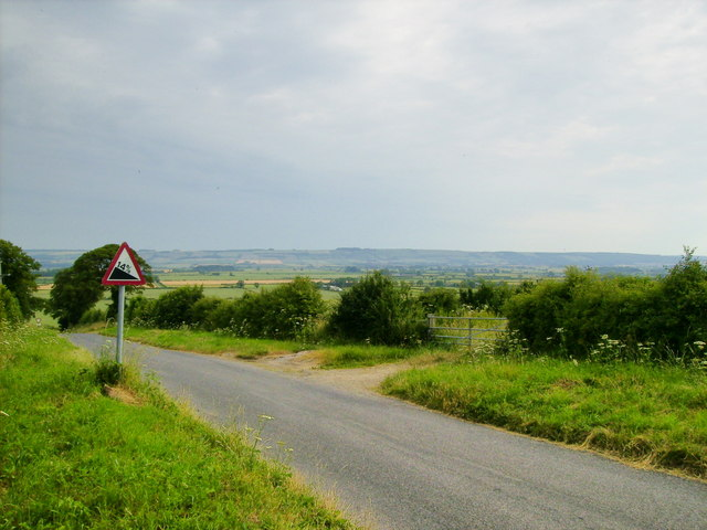 View from Wydale Lane towards the Yorkshire Wolds