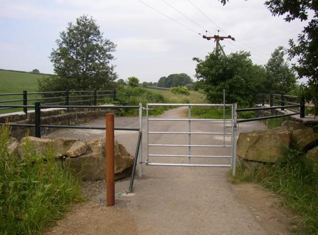 Bridle gate on the Greenway, Kirkheaton