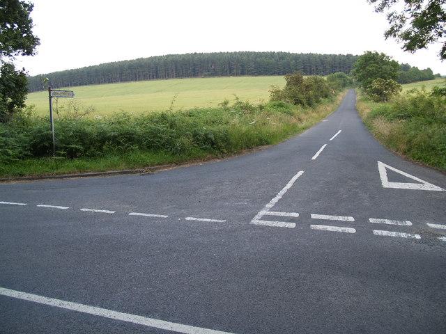 Watch Hill Road Junction on Lead Road