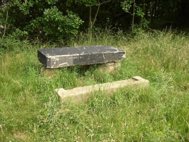 Stone table by the Greenway, Kirkheaton