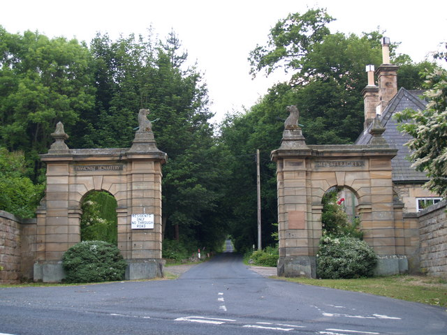 North Eastern entrance to Minsteracres Estate