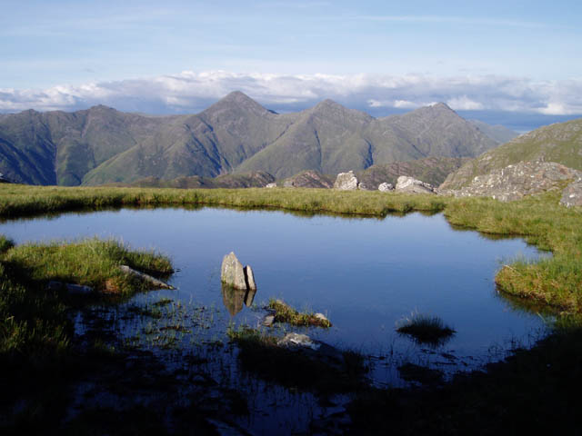 Pool on the side of Sgurr a' Gharg Gharaidh
