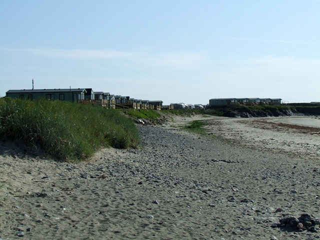 Caravans beside the beach