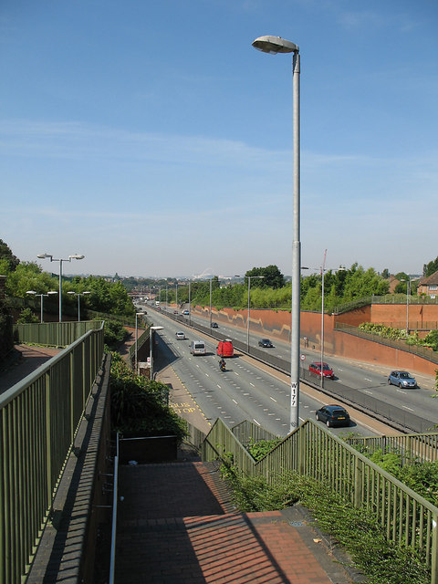 North Circular Road from Manor Cottage