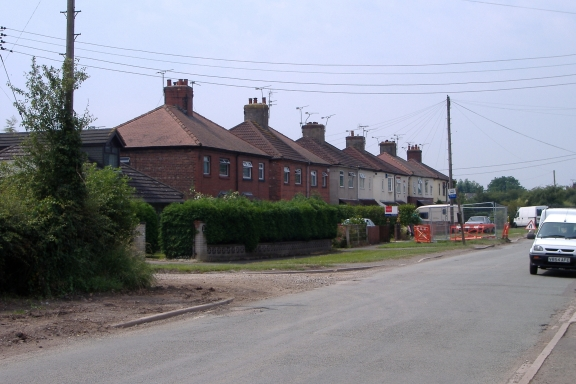 Warmingham Road at Coppenhall Moss, Crewe