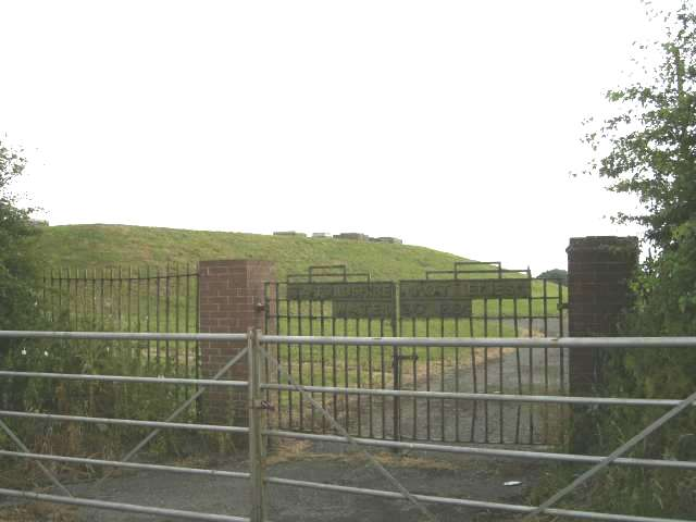 Entrance to covered reservoir