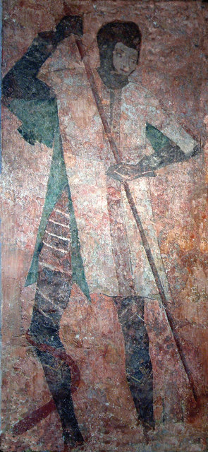 Farleigh Hungerford Castle - Wall Painting in Chapel