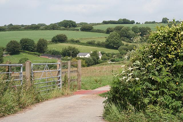 Brompton Regis: entrance to Ditch Farm