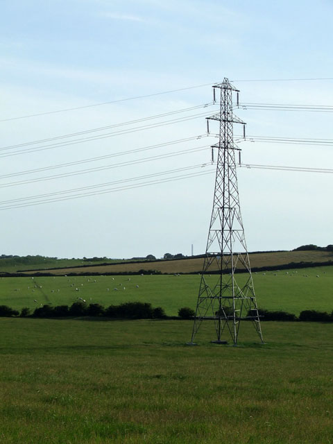 Pylon in a field