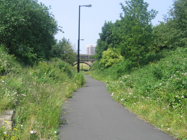 Byker Link Cycle Path Facing North