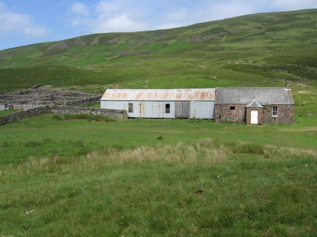 Derelict cottage near Blackhill Moss
