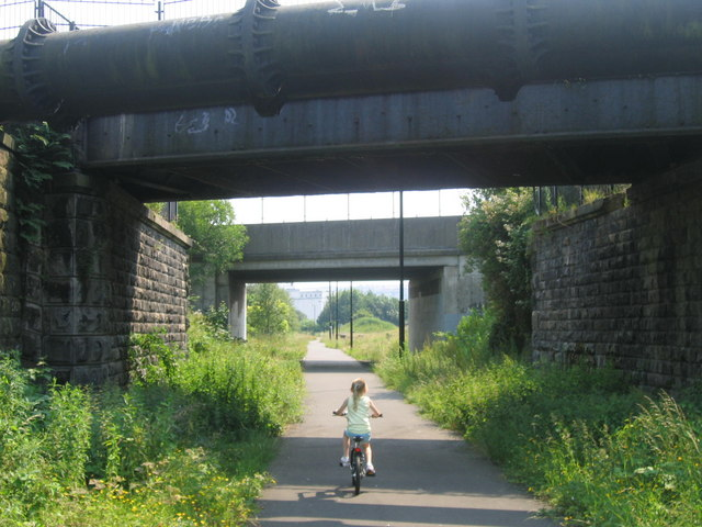 Byker Link Cycle Path Facing South