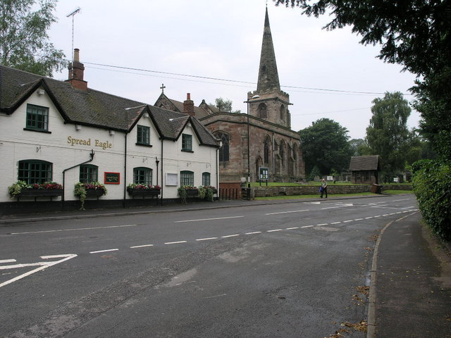 Spread Eagle and St Mary's