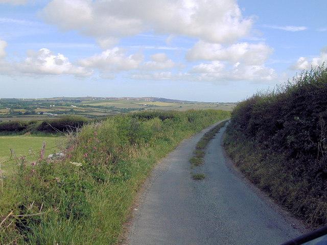Road near Maenaddwyn