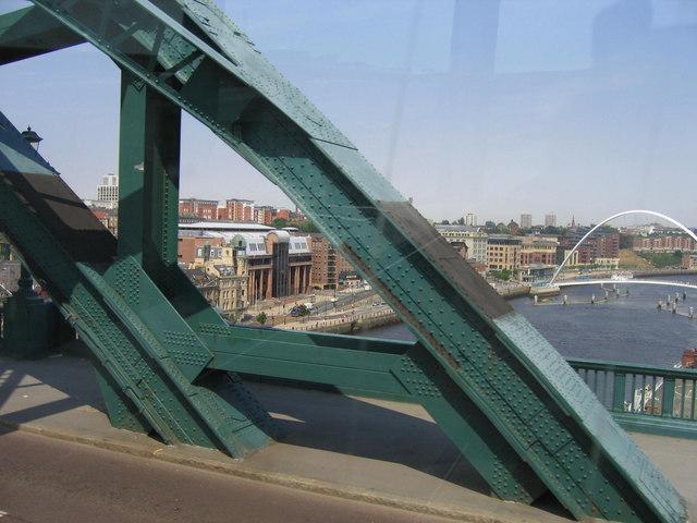 Law Courts Through The Tyne Bridge