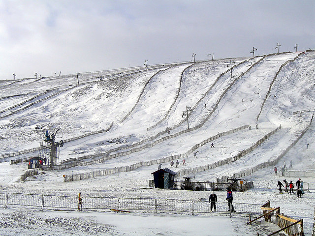 The Lecht ski slopes