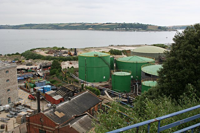 Oil Storage Tanks at Falmouth Docks